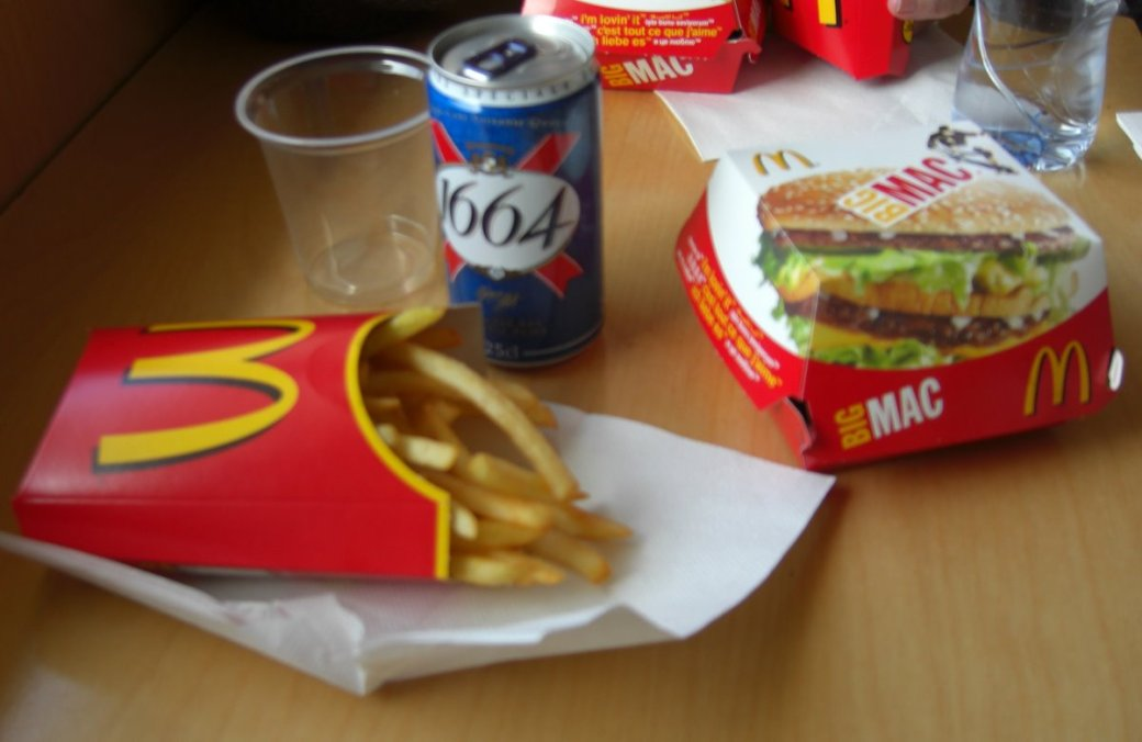 Beer with McDonalds! I want it at home, but the UK isn't ready for it yet.