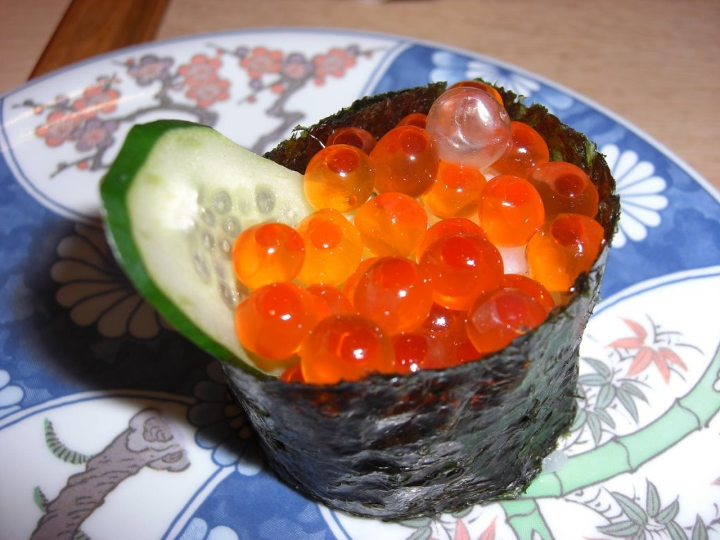 Salmon Eggs! Tasty and they pop in your mouth!