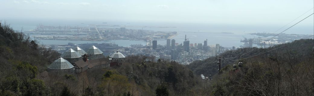 The view from the top of Mt Rokko (click on it for the larger panorama)