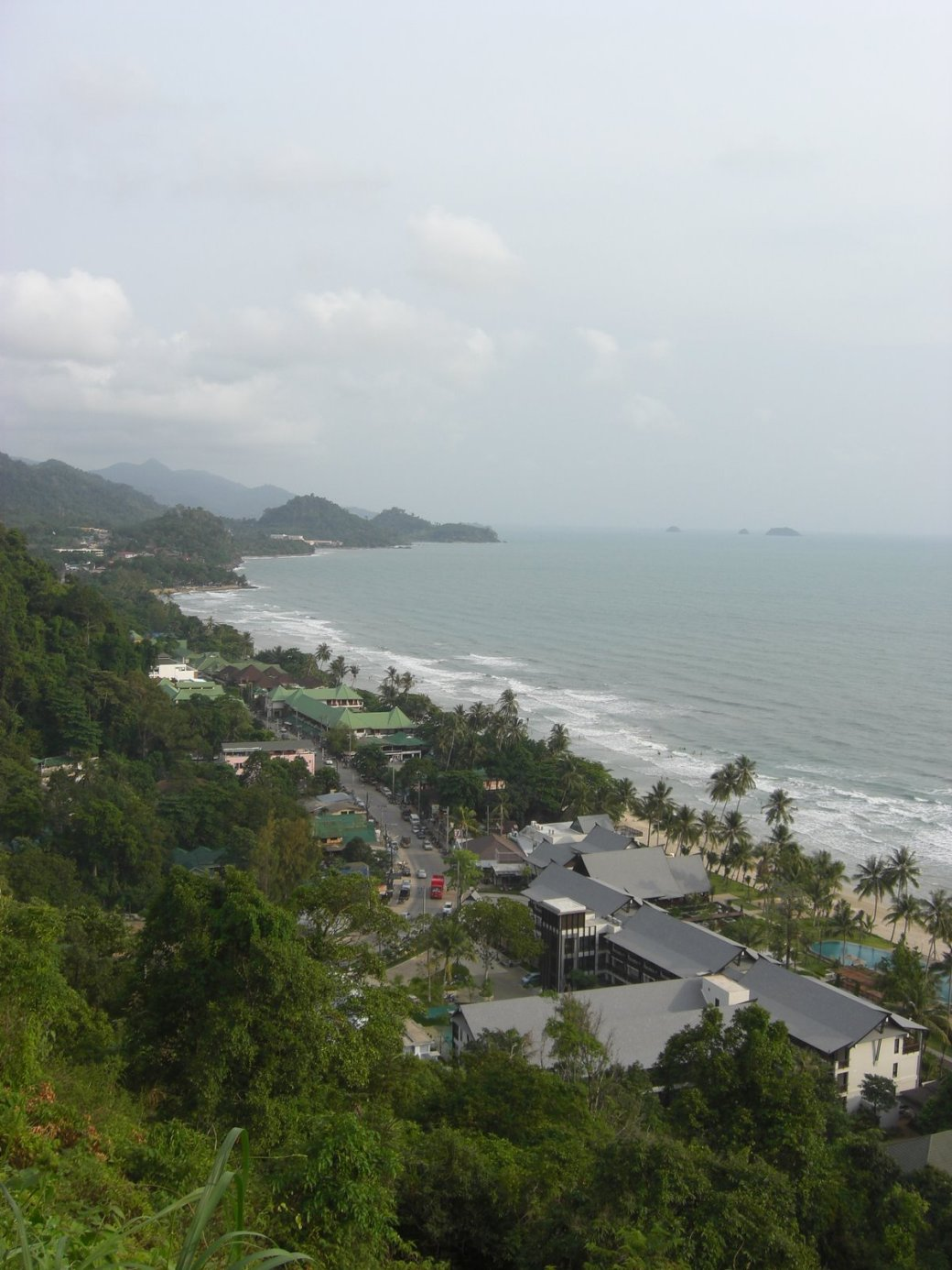White Sands Beach (Sai Khao Beach) from above