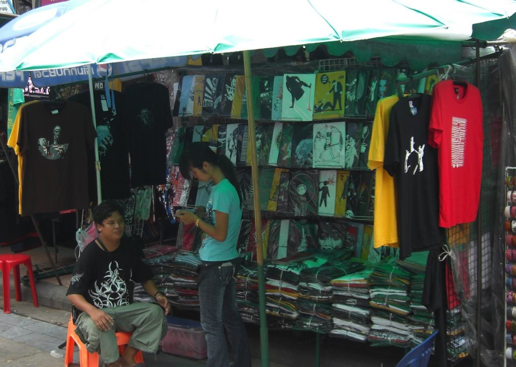 The best T Shirt stall on the whole street!