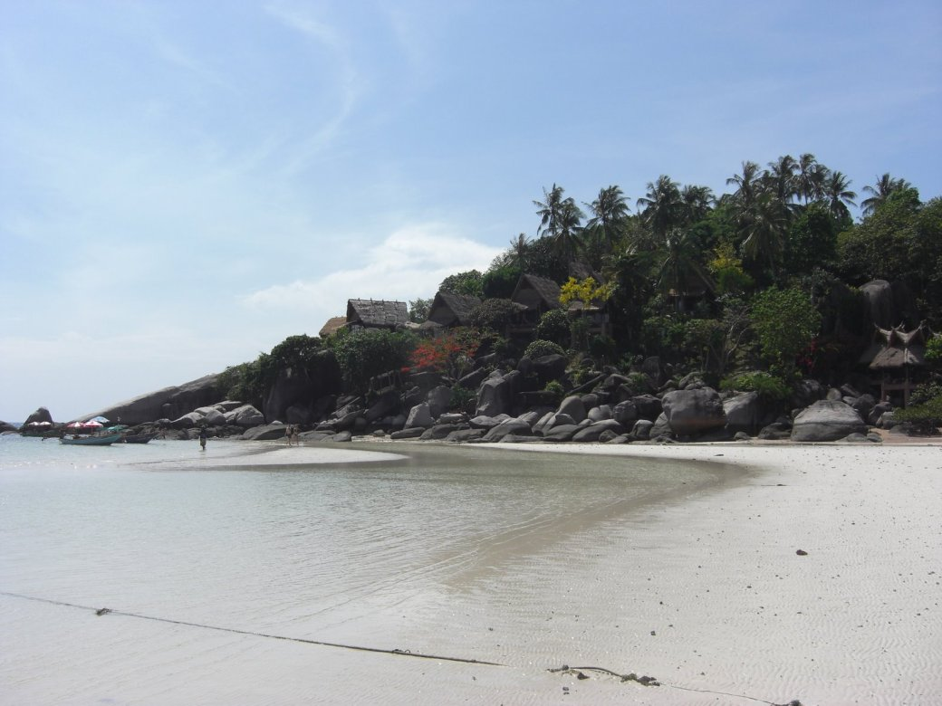 The North end of Sairee Beach, good snorkling up there I'm told.