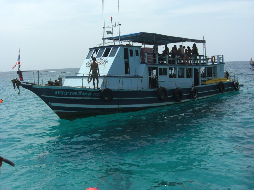 The boat we were using, Navikin (I took this a couple of days later)