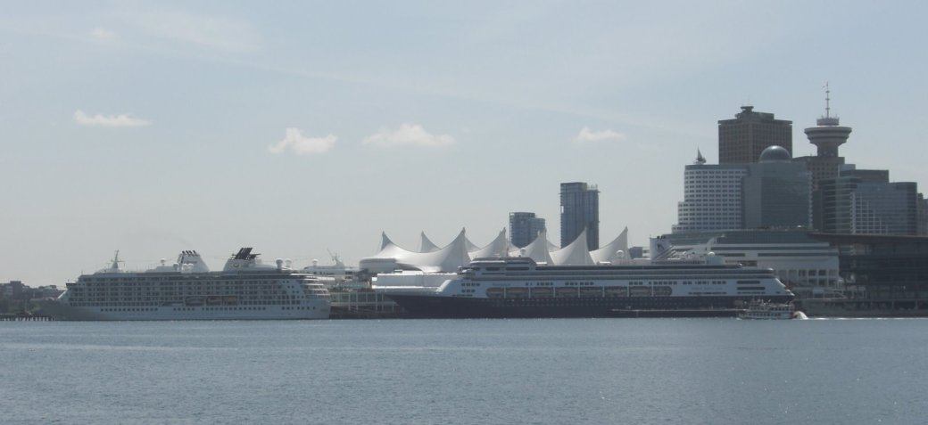 Canada Place with a few Cruise Ships