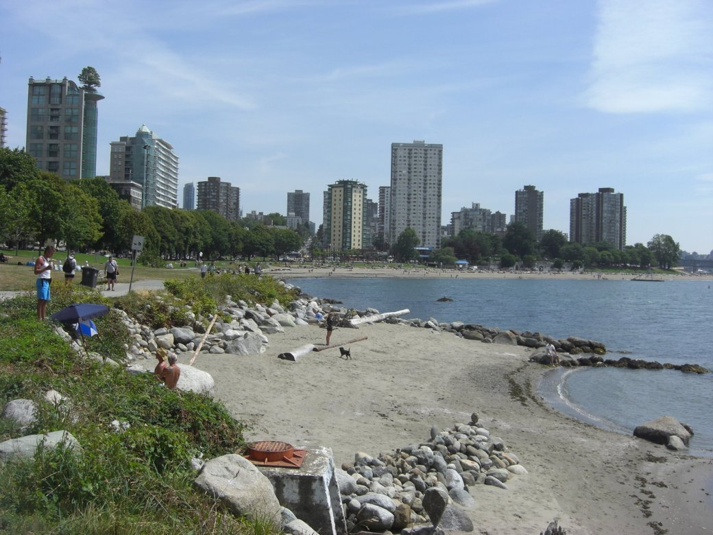 But I can tell you this is English Bay Beach