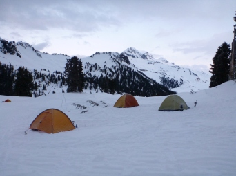 Start of Day 2... We slept in these last night!!!