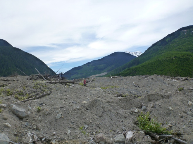 The massive slide that hit the area in 2010. One of the largest in Canadian history!