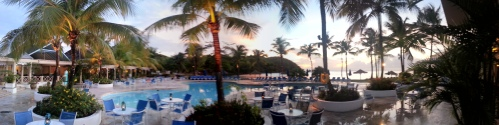 Pano of the pool