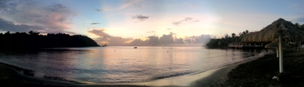 Pano of the beach