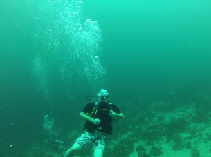 A shot of me diving, kindly sent by a fellow diver