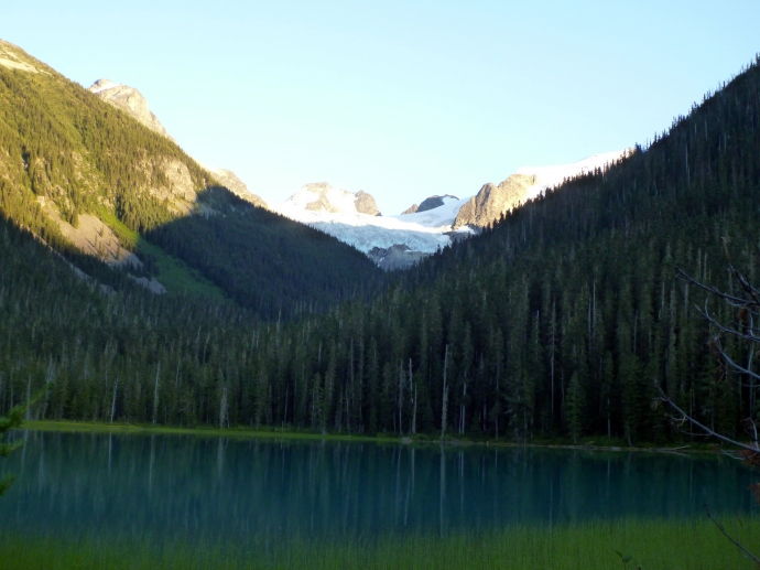 Lower Joffre Lake, where you start from.