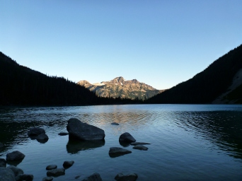 Ahhhhh Upper Joffre Lake in morning!