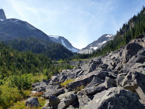 This is what a lot of the hike up to Tszil/Taylor was like
