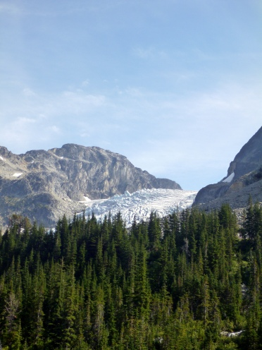 The glacier, as seen from the hike up to Tszil/Taylor