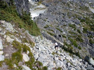 The hike back from the view point on Taylor, it's easier than it looks.