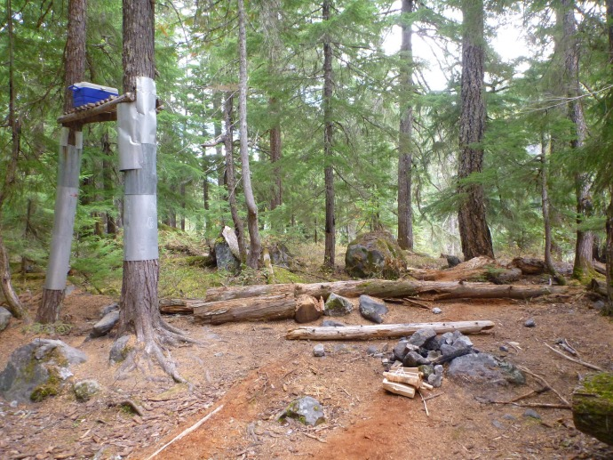 Bear cache (you know you're at the campground when you see it)