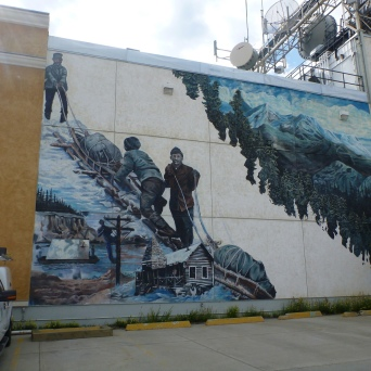 These murals were all over Whitehorse
