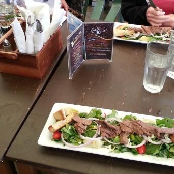 We all had Steak Salad for dinner