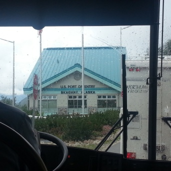 Crossing the US Border near Skagway, AK