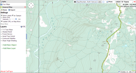 CalTopo, on the default map layer.