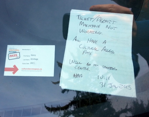 But had to leave a note on the car